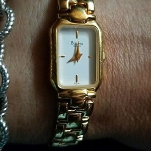 Bulova Quartz Gold Tone Watch